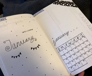 january, journal, and bullet journal image