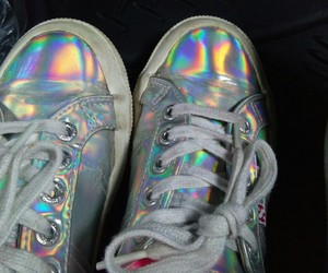 hologram, rainbow, and shoes image