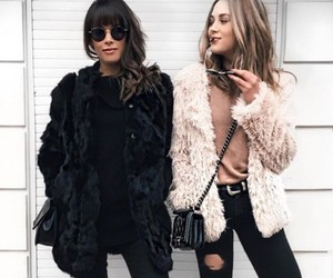 fashion, friendship, and outfit image