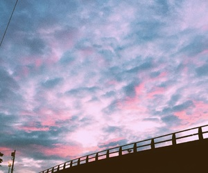city, clouds, and pink image
