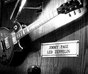 led zeppelin, guitar, and jimmy page image
