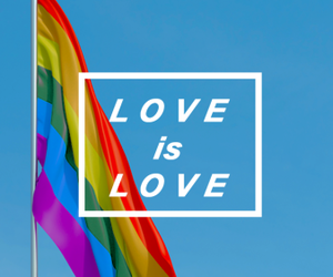 love, lgbt, and pride image