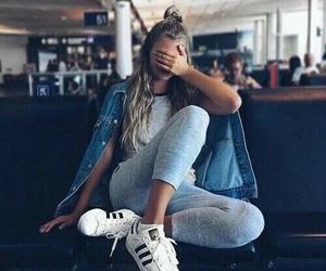 fashion, girl, and adidas image