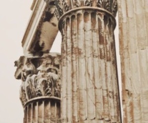 architecture, ruins, and columns image