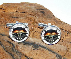 etsy, the witcher 3 wild hunt, and wolf cufflinks image