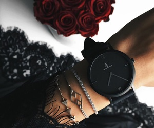 black, watch, and rose image
