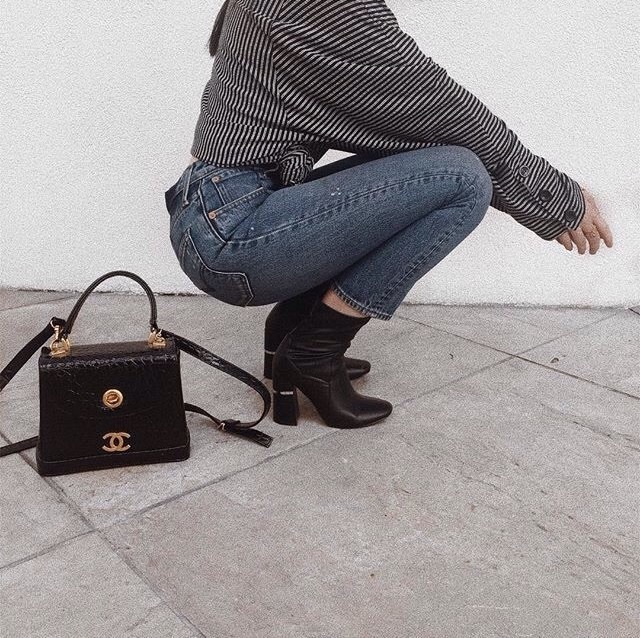 aesthetic, black boots, and chanel image