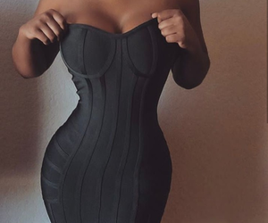curves, dress, and style image