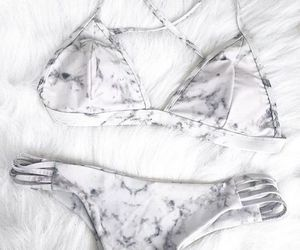 bikini, marble, and summer image