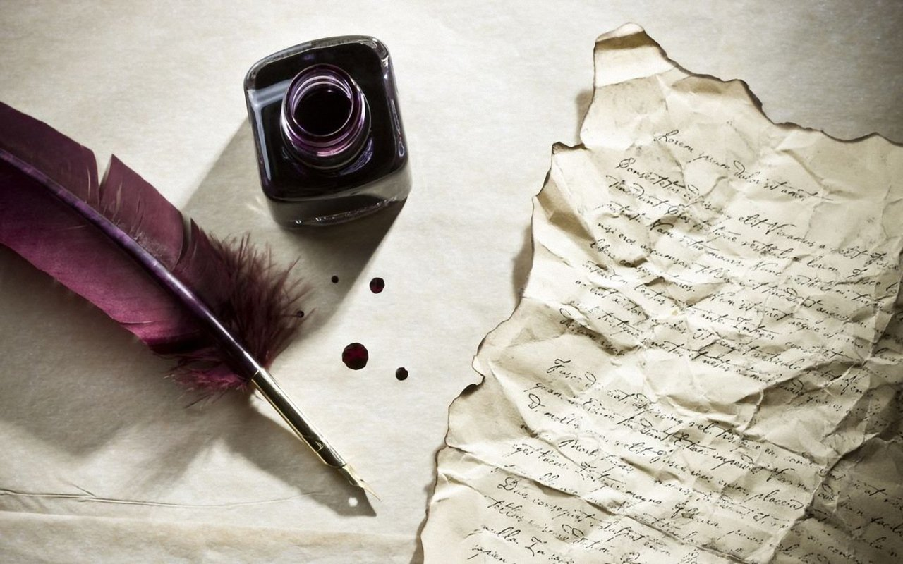 Letter, ink, and Paper image