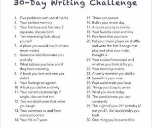 writing and 30 days challenge image