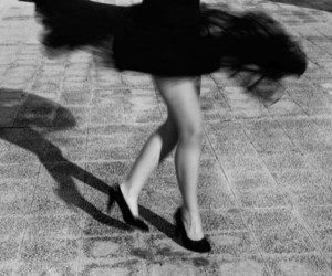 black and white, black, and dance image