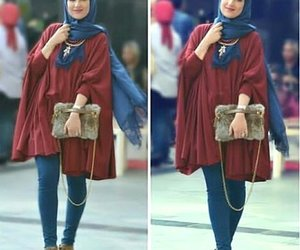 poncho outfit with hijab image