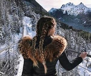 fashion, fur, and girl image