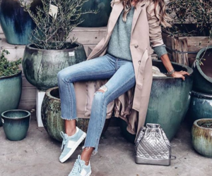 chic, sneakers, and fashion image