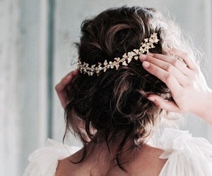 hair, hairstyle, and crown image