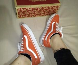 orange, sneakers, and vans image