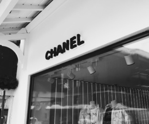 black, chanel, and luxe image