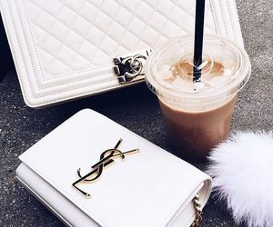 coffee, YSL, and bag image