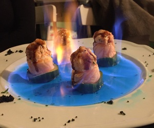 cibo, fire, and fish image