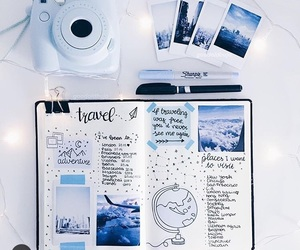 blue, bullet journal, and doodles image
