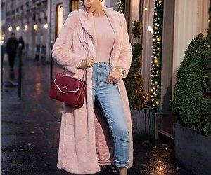 furry coat hijab pink image