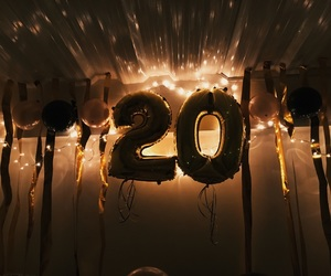 bff, lights, and 20th birthday image