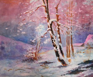 acrylic, nature, and snow image