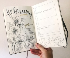 planning, studyin, and bullet journal image