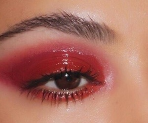 red and makeup image
