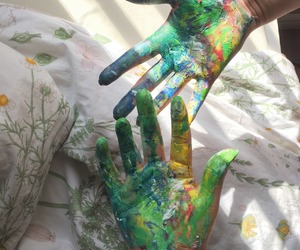 art, paint, and green image