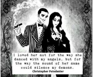 addams family, black and white, and demons image