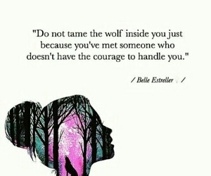 growth, quote, and wolf image