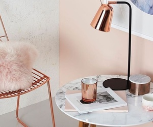 rose gold, rose, and decor image