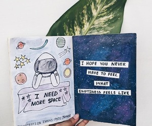 art, journal, and quotes image