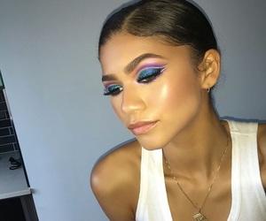 zendaya, makeup, and highlight image