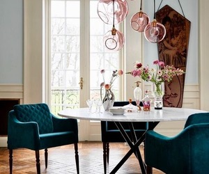 dining room, home decor, and interior decorating image