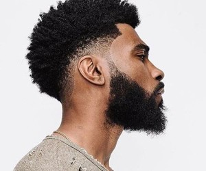 African, black, and haircut image