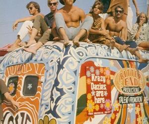 hippie, hippies, and woodstock image