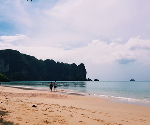 beach, nature, and thailand image