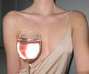 aesthetic, wine, and Nude image