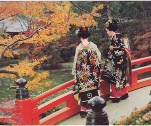 geisha, maiko, and autumn image