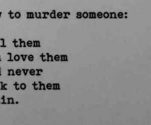 love, murder, and quote image