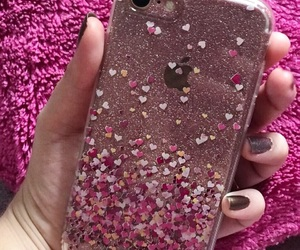 case, glitter, and love image