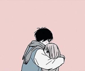 couple, kawaii, and pink image