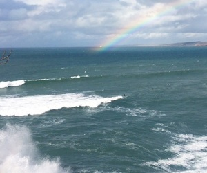 ocean, rainbow, and sea image