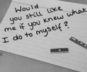 pain, selfharm, and sadness image