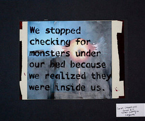 monster, inside, and text image