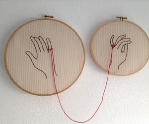 love, red, and hands image