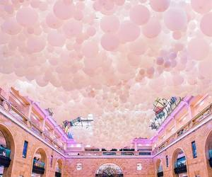 balloons, peachy, and aesthetic image